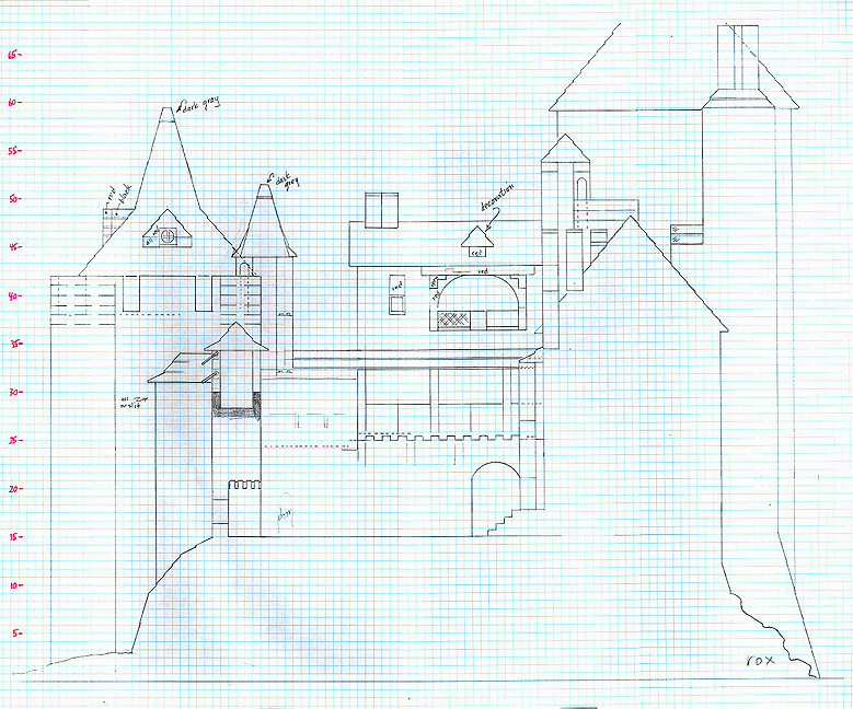 Plan of Castell Coch to make out of Lego