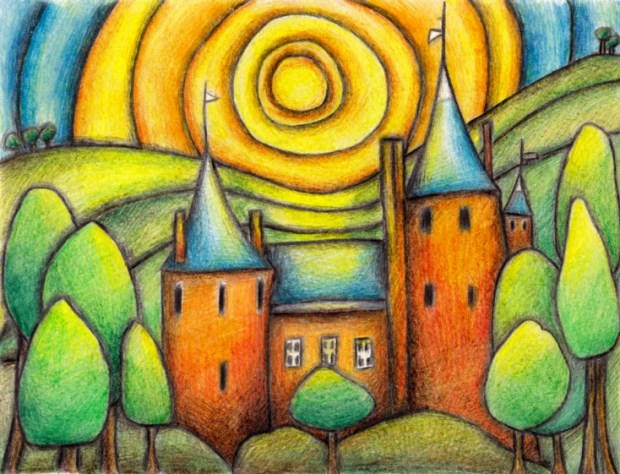 Castell Coch artwork by Gayle Rogers