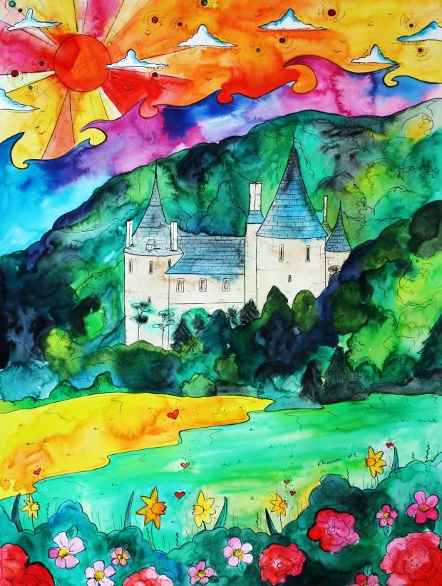 Castell Coch artwork by
