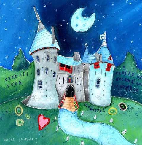 Castell Coch artwork by Susie Grindey