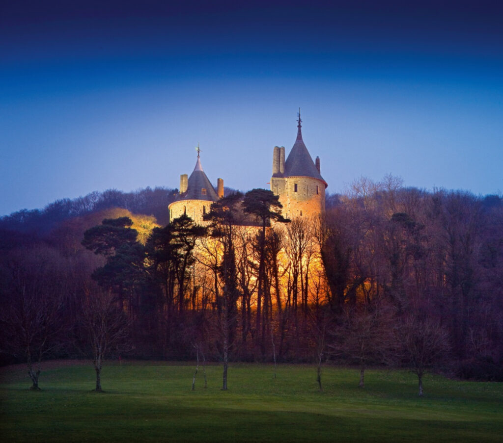 Castell Coch at sunset, 2013