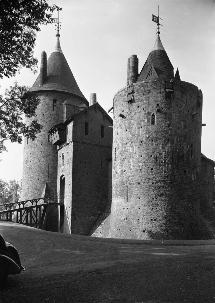 View of Castell Coch photographed in 1952