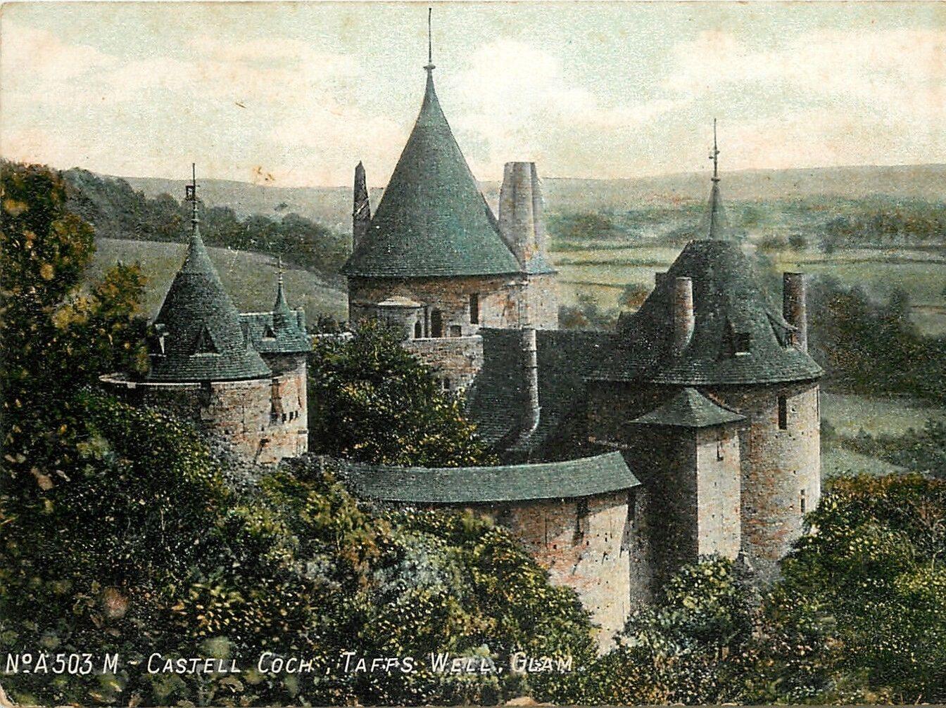 Postcard featuring Castell Coch