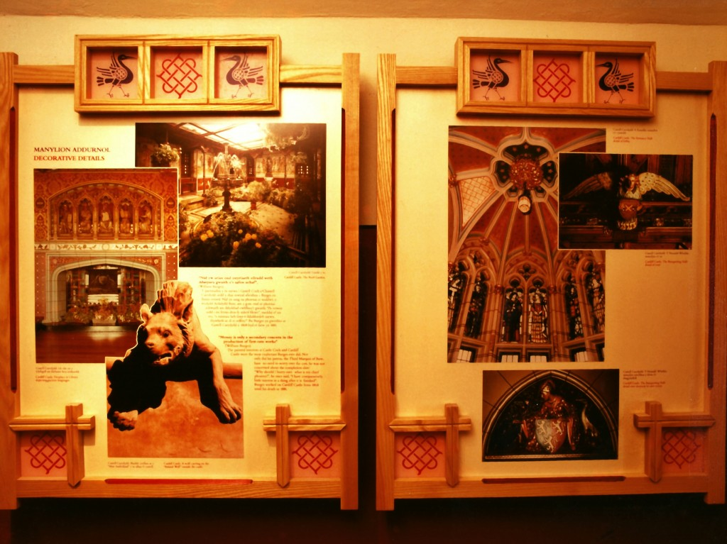Information panels in Castell Coch