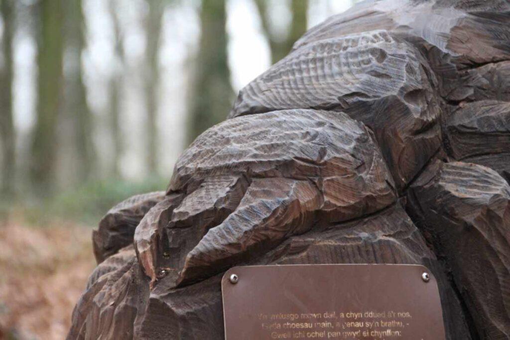 Wooden sculpture of a beetle