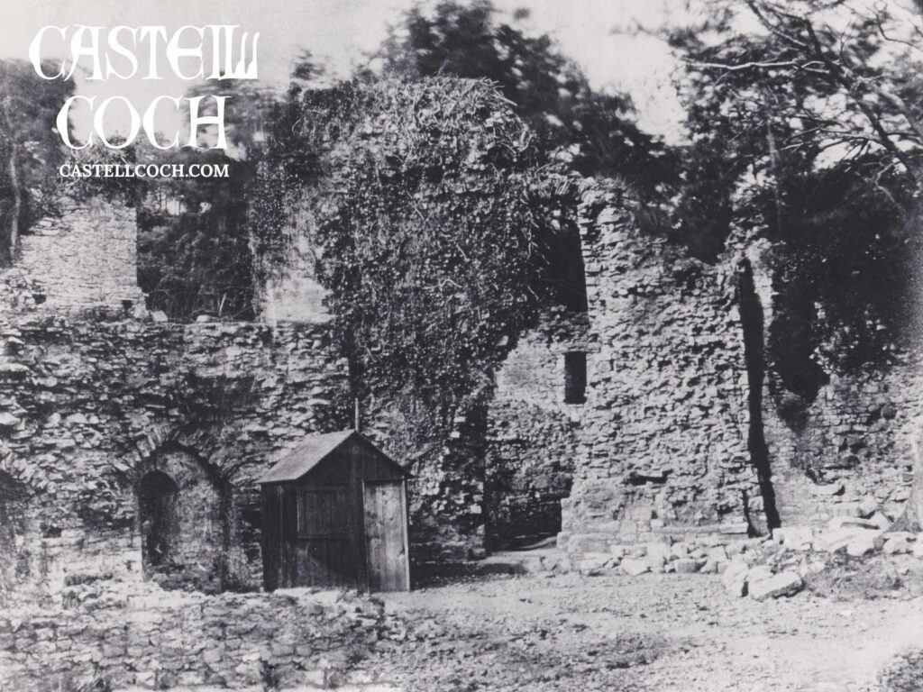 Photo of the 13th Century Castell Coch ruins in 1875