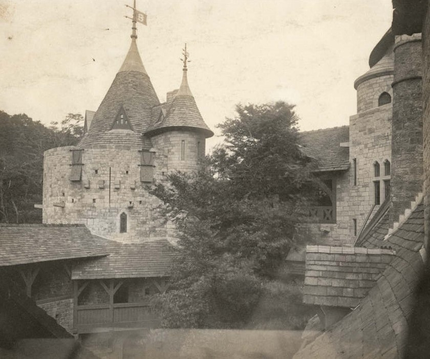 Photo of Castell Coch by William Booth 1891