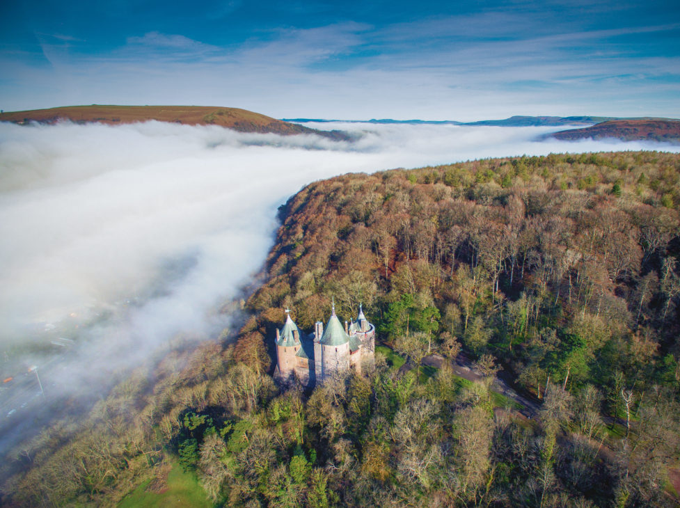 Aerial photo of Castell Coch by Nick Russill