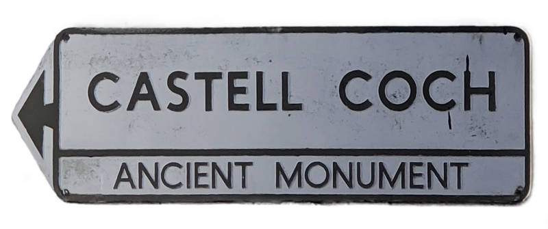 Castell Coch ancient monument sign