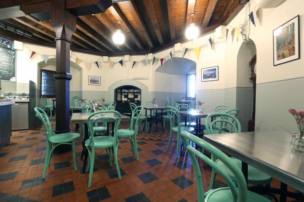 Interior of the Castell Coch tea room