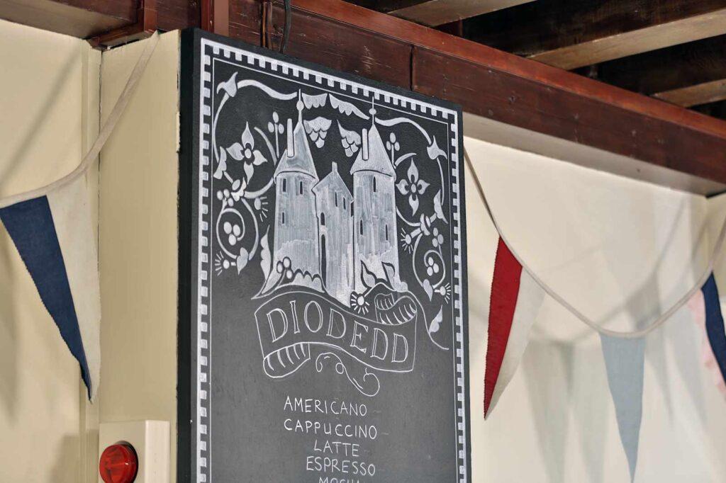 Drink menu in the Castell Coch tea room