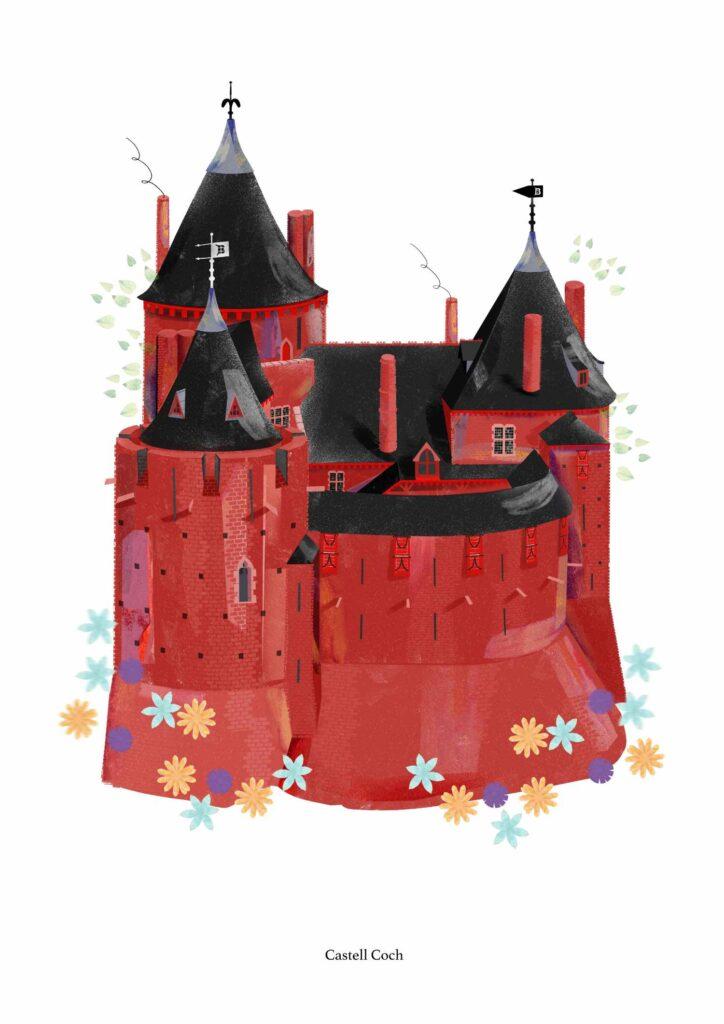Castell Coch artwork by Bethan Scorey