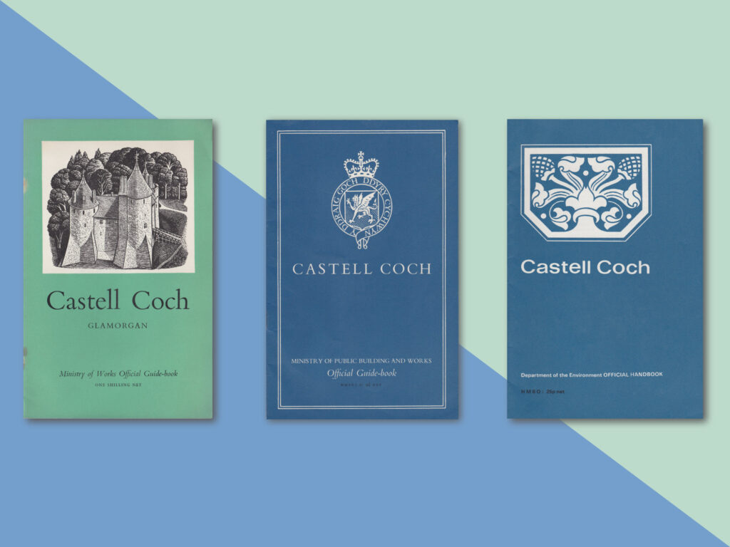 Three old guidebooks for Castell Coch