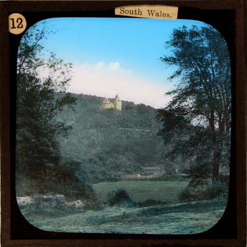 Magic Lantern Slide photo of Castell Coch