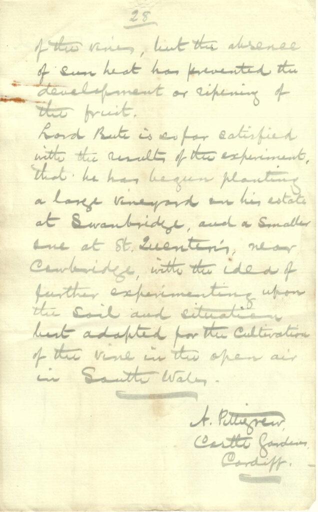 Handwritten note of Andrew Pettigrew's lecture