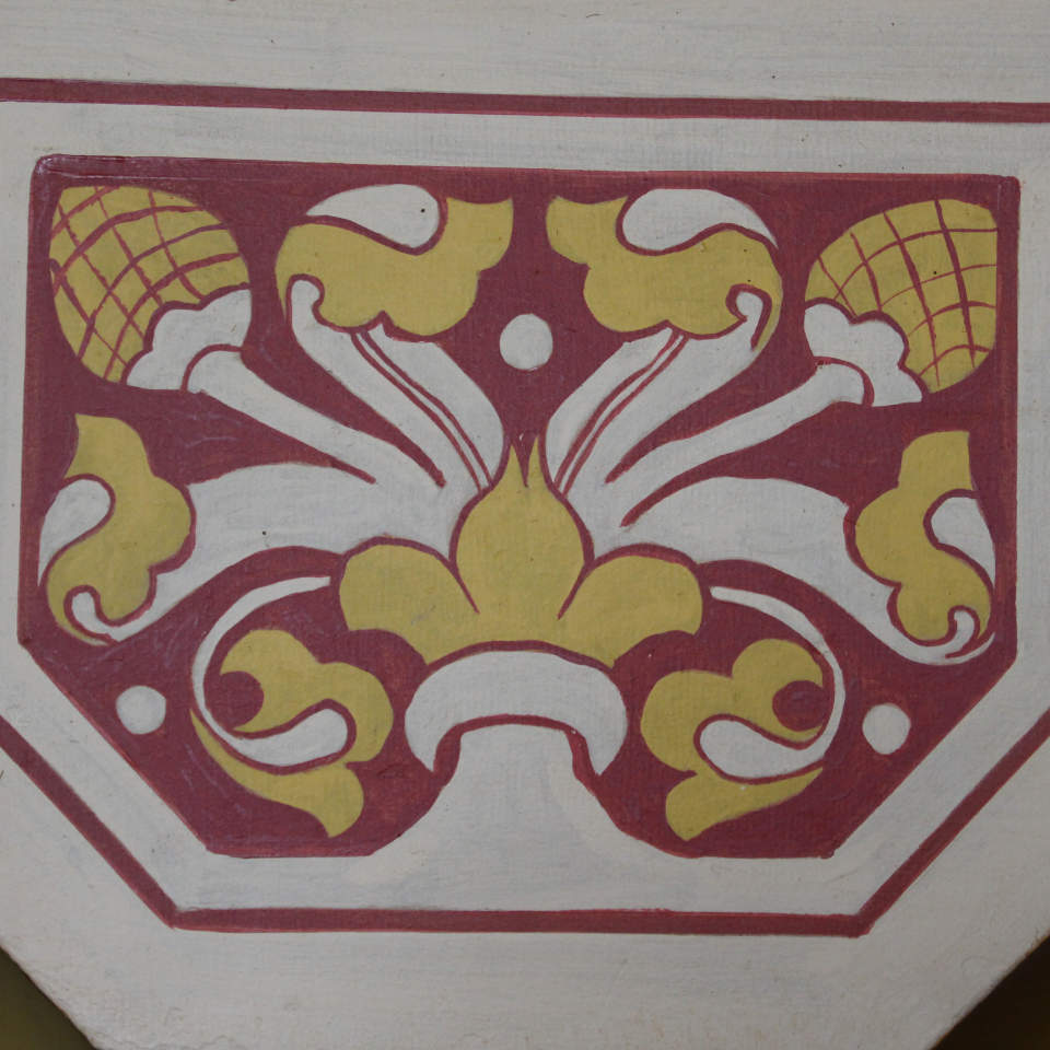 Detail of painted pattern in Castell Coch