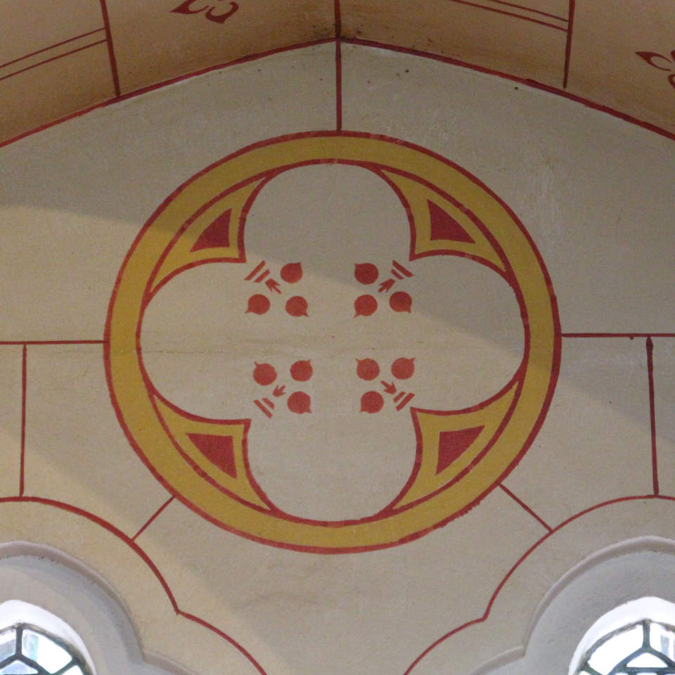 Painted wall in Castell Coch